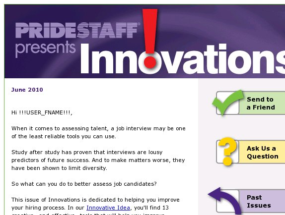 Innovations: Interviews Stink, Better Tools for Sourcing A-level Talent